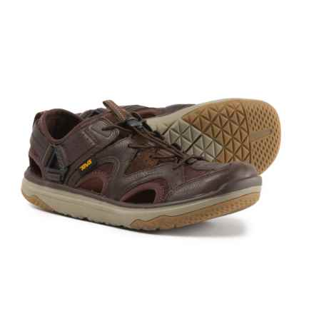 Teva Terra-Float Travel Water Shoes - Leather (For Men) in Chocolate Brown - Closeouts