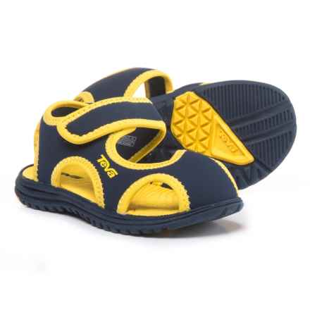 Teva Tidepool CT Sandals (For Infant and Toddler Boys) in Navy/Yellow - Closeouts