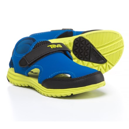 f64dd6c085c27c Teva Tidepool Sport Sandals (For Boys) in Blue Lime - Closeouts