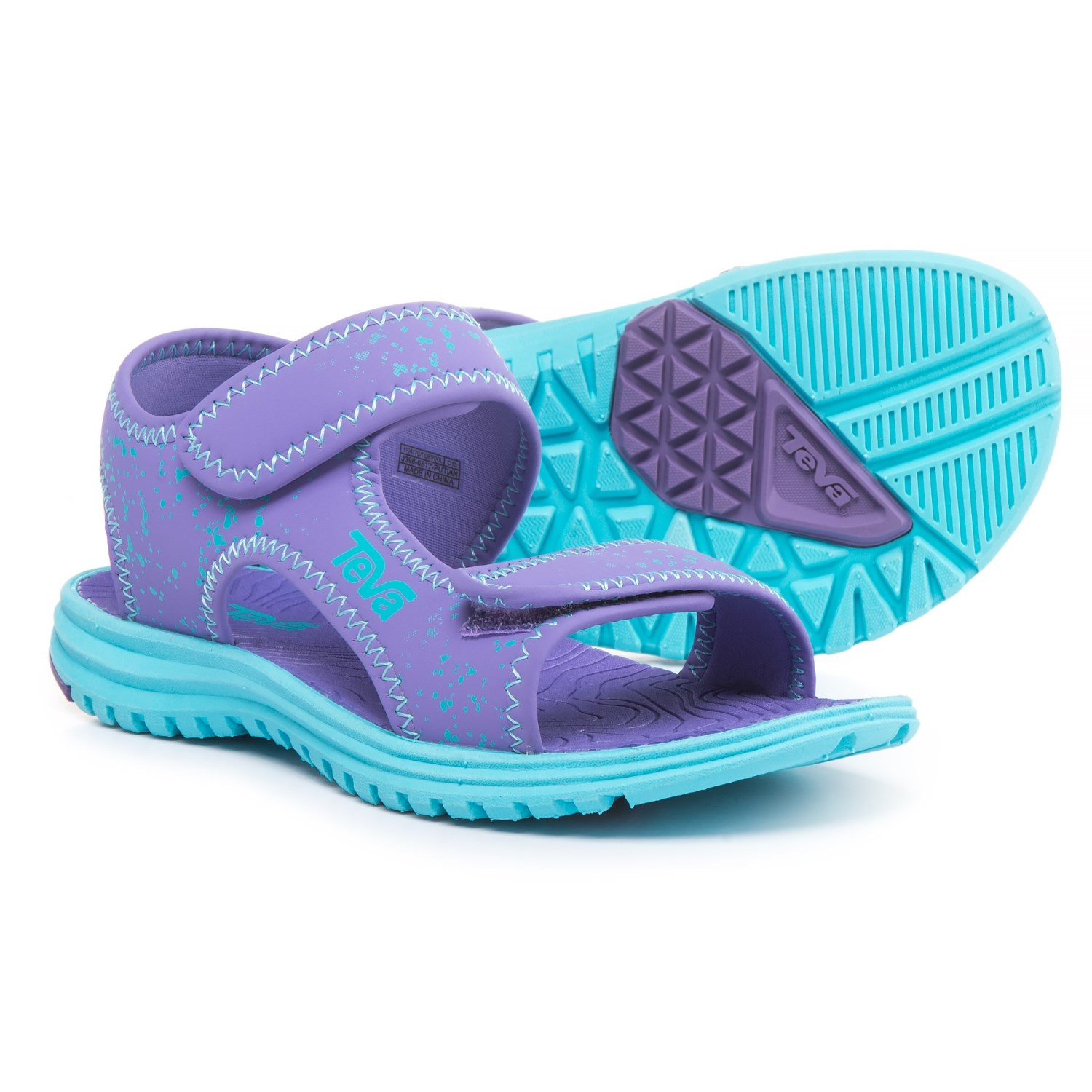 d177d2bc4af7 Teva Tidepool Sport Sandals (For Girls) in Purple Scuba Splatter ...