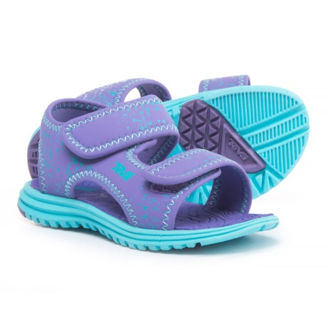 Teva Tidepool Sport Sandals (For Infant and Toddler Girls) in Purple/Scuba Blue Splatte