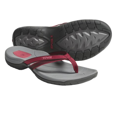 Teva Tirra Thong Sandals (For Women) in Red