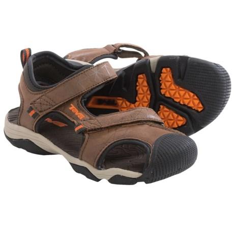 Teva Toachi 3 Sport Sandals (For Little Kids) in Brown/Orange
