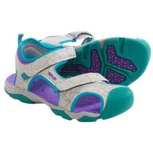 Teva Toachi 3 Sport Sandals (For Little Kids) in Gray/Turquoise - Closeouts