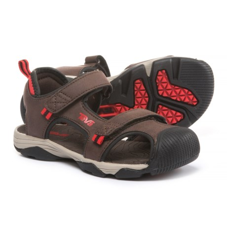 Teva Toachi 4 Sport Sandals (For Boys) in Chocolate/ Black/Red