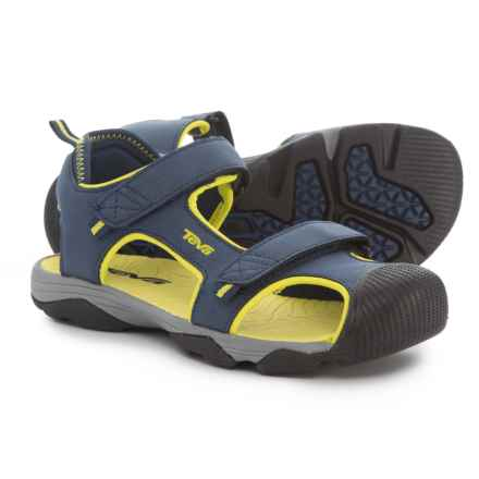 Teva Toachi 4 Sport Sandals (For Boys) in Navy/Lime - Closeouts