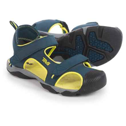 Teva Toachi 4 Sport Sandals (For Little Kids) in Navy/Lime - Closeouts