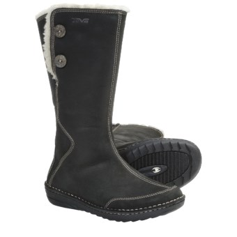 Teva Tonalea Boots - Leather (For Women) in Black