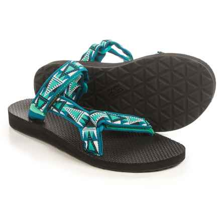 Teva Universal Slide Sandals (For Women) in Mosaic Deep Teal - Closeouts