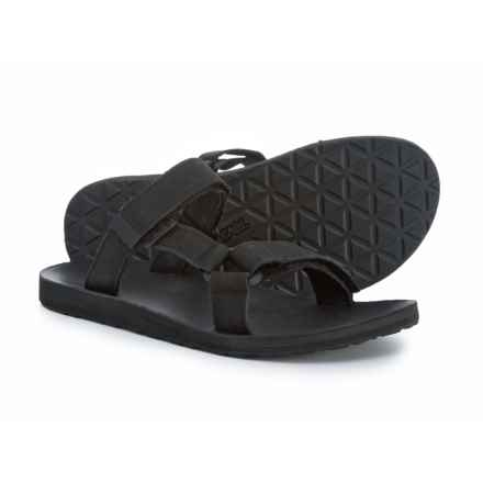 Teva Universal Slide Sandals - Leather (For Men) in Black - Closeouts