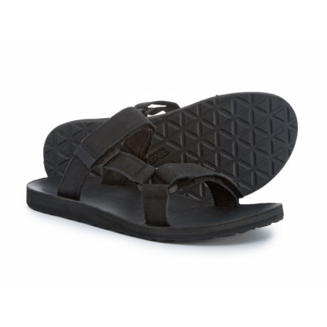 Teva Universal Slide Sandals - Leather (For Men) in Black