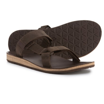 f07d5544784e6b Teva Universal Slide Sandals - Leather (For Men) in Brown - Closeouts