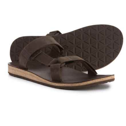 Teva Universal Slide Sandals - Leather (For Men) in Brown - Closeouts