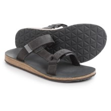 Teva Universal Slide Sandals - Leather (For Men) in Grey - Closeouts