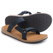 Teva Universal Slide Sandals - Leather (For Men) in Navy - Closeouts