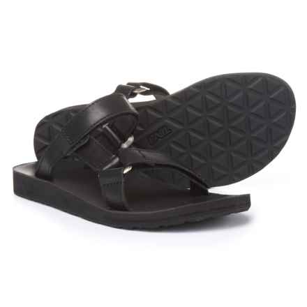 Teva Universal Slide Sandals - Leather (For Women) in Black - Closeouts