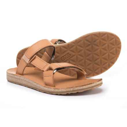Teva Universal Slide Sandals - Leather (For Women) in Tan - Closeouts