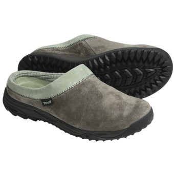 Teva Vero Clogs -Suede (For Women) in Black Olive