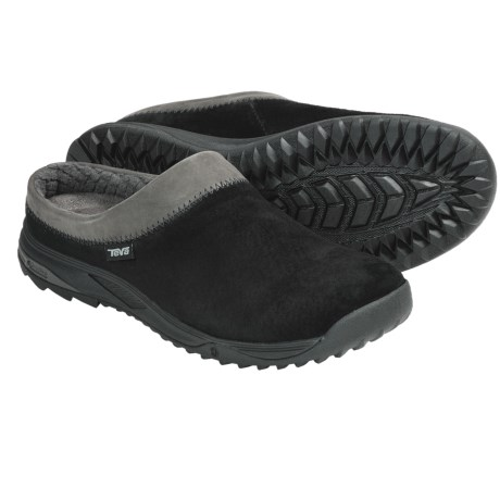 Teva Vero Clogs -Suede (For Women) in Black