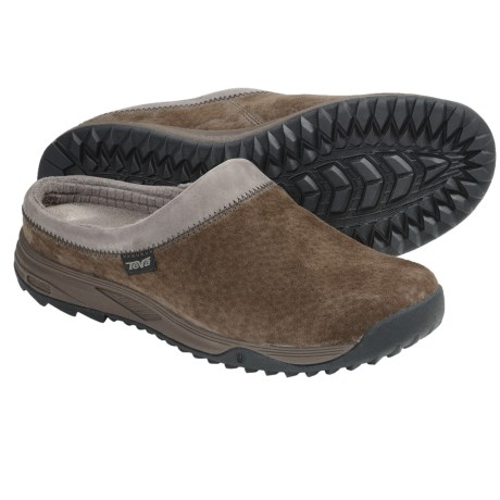 Teva Vero Clogs -Suede (For Women) in Brown