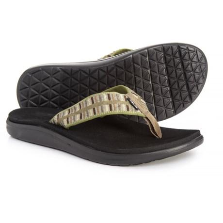 e79d993620cd Teva Voya Flip-Flops (For Men) in Cole Olive