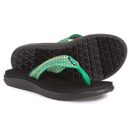 78267444d Teva Voya Flip-Flops (For Women) in Bar Street Multi Fern