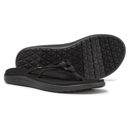 b717a3b71 Teva Voya Tri Flip-Flops (For Women) in Black - Closeouts