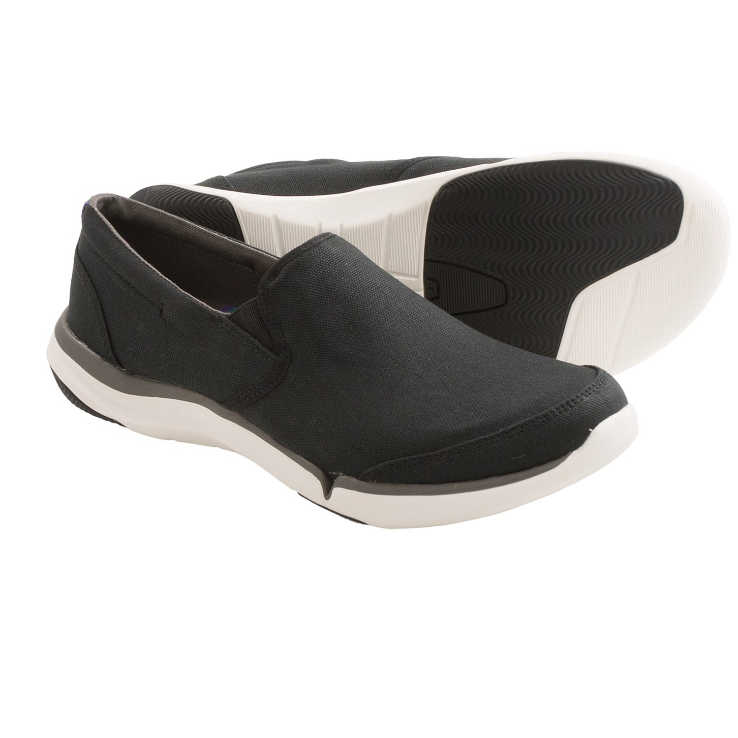 Teva Wander Shoes - Canvas, Slip-Ons (For Women) in Black