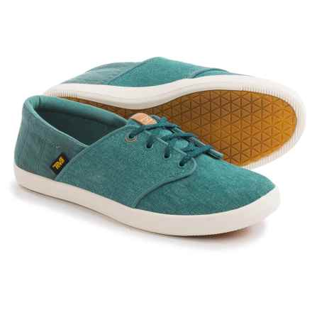 Teva Willow Lace Canvas Sneakers (For Women) in Blue - Closeouts