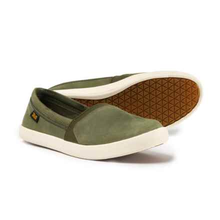 Teva Willow Sneakers - Slip-Ons (For Women) in Olive - Closeouts