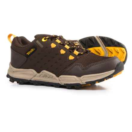 Teva Wit Trail Shoes - Waterproof (For Boys) in Chocolate/Yellow - Closeouts