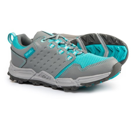 Teva Wit Trail Shoes - Waterproof (For Girls) in Grey/Turquoise