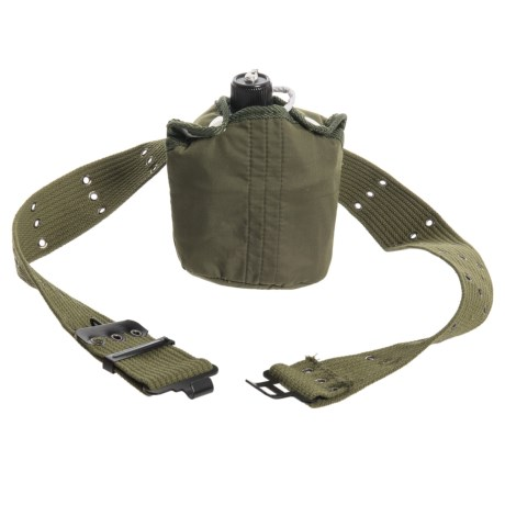 Texsport Aluminum Canteen and Belt Set - 3-Piece, 1 qt. in See Photo