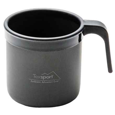 Texsport Black Ice Anodized Aluminum Cup - 14 fl.oz. in Black - Closeouts