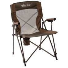 Texsport Deluxe Hard Arm Chair in Brown - Closeouts