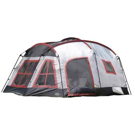 Texsport Highland Three-Room Tent - 8-Person, 3-Season in Gray/Maroon - Closeouts