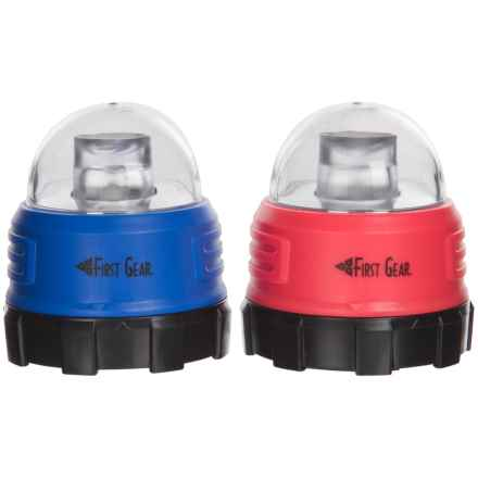 Texsport Mini Dome LED Lights - 90 Lumens, 2-Pack in Blue/Red - Closeouts