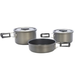 Texsport The Scouter Black Ice Anodized Mess Kit - 5-Piece in See Photo