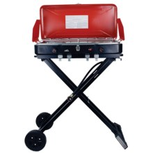 Texsport Travel 'n' Trail Dual-Burner Camp Stove - Propane in Red - Closeouts