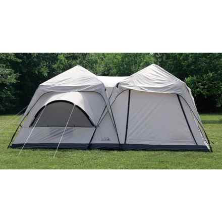 Texsport Twin Peaks Two-Room Cabin Dome Tent - 10-Person, 3-Season in Gray - Closeouts