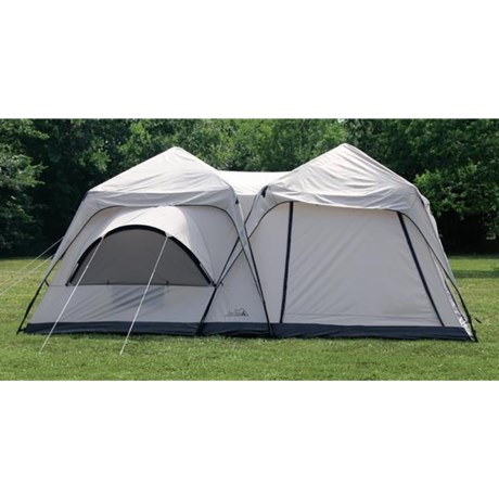 Texsport Twin Peaks Two-Room Cabin Dome Tent - 10-Person, 3-Season