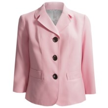 Textured Blazer (For Plus Size Women) in Pink - 2nds