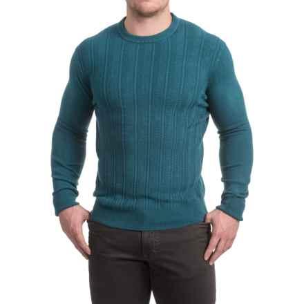 Textured Crew Neck Sweater (For Men) in Aqua - 2nds