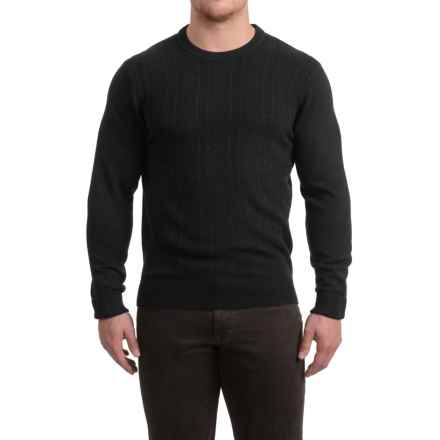 Textured Crew Neck Sweater (For Men) in Black - 2nds