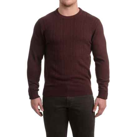 Textured Crew Neck Sweater (For Men) in Mulberry - 2nds