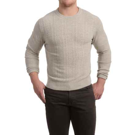 Textured Crew Neck Sweater (For Men) in Sand - 2nds