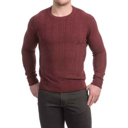 Textured Crew Neck Sweater (For Men) in Wine - 2nds