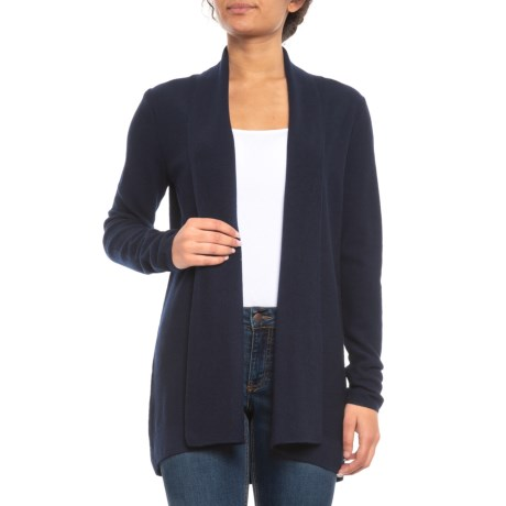 Image of Textured Flyaway Cardigan Sweater - Merino Wool (For Women)