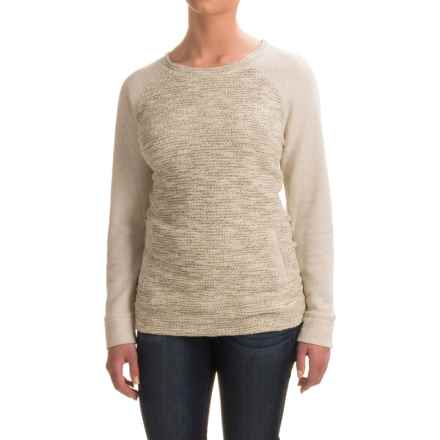 Textured Front Sweatshirt - Crew Neck (For Women) in Grey - 2nds