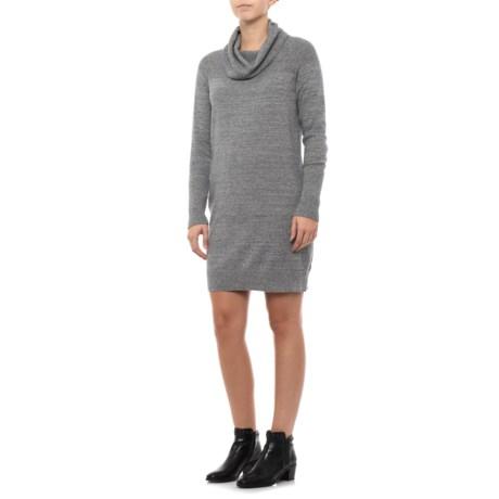 Textured Sheath Dress - Cowl Neck, Long Sleeve (For Women)